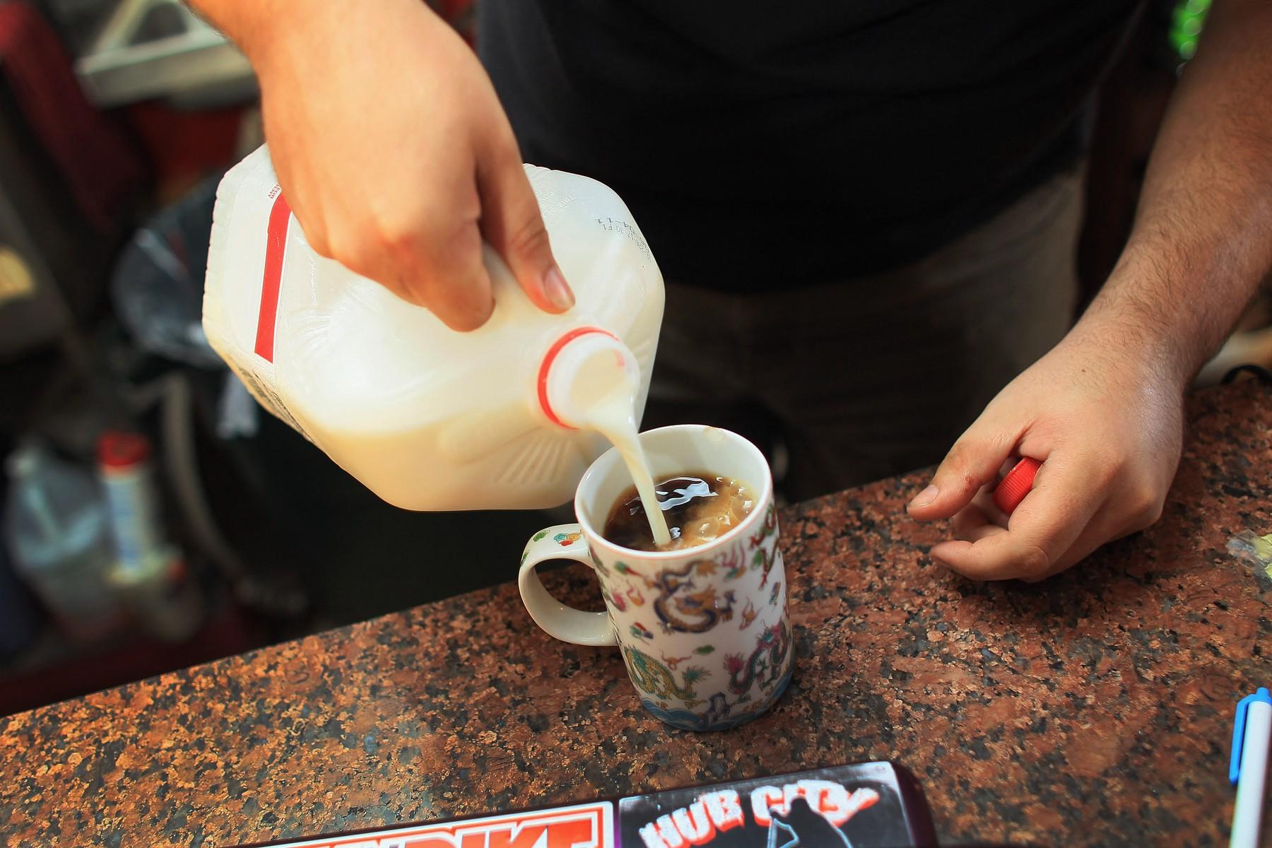 kafa; mleko