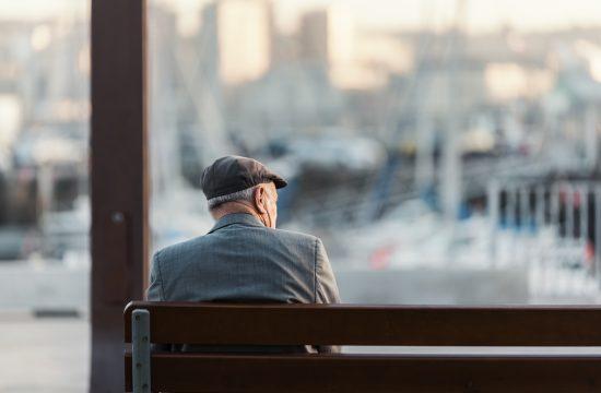 Deka, penzioner, deda, stariji čovek, klupa