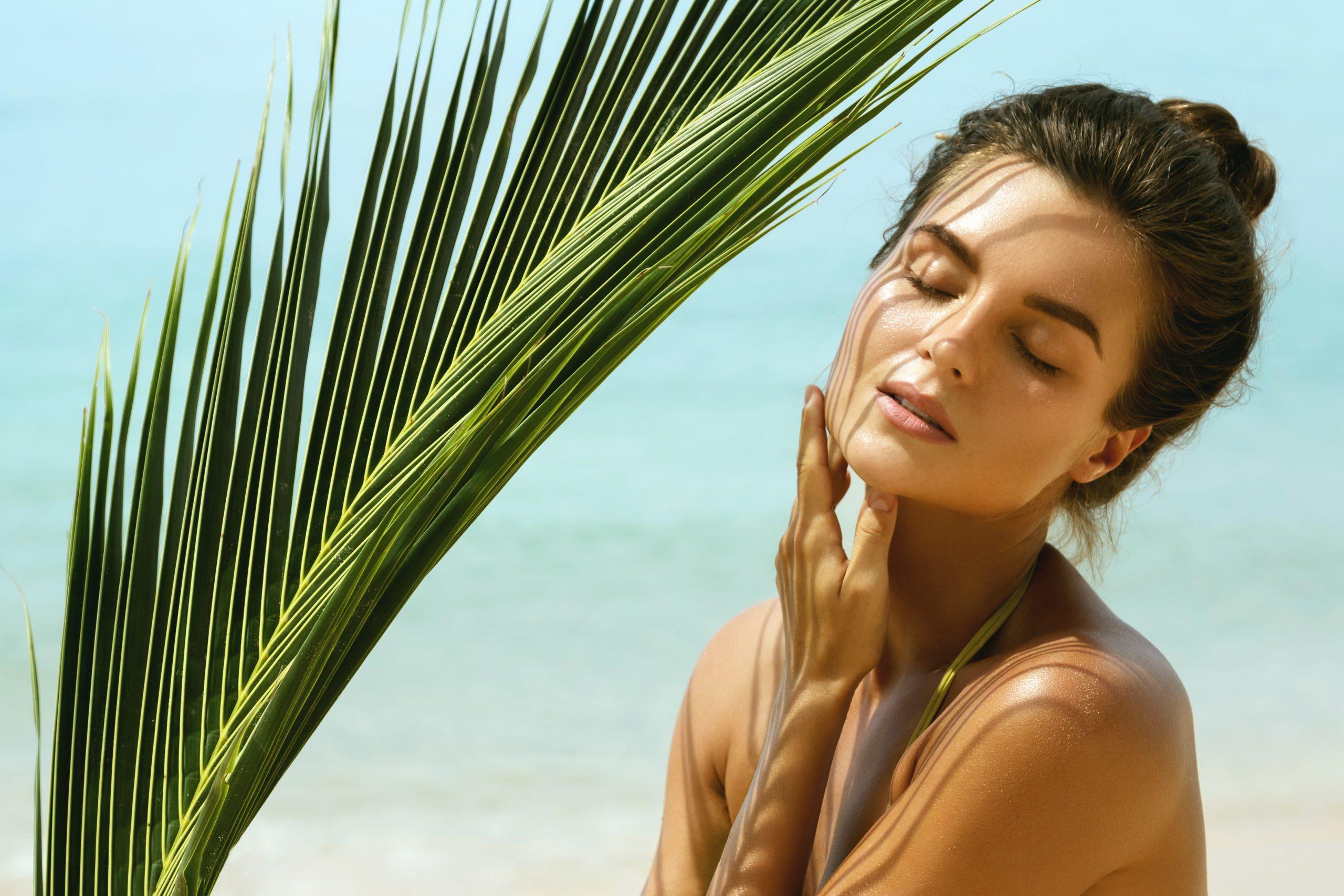 Žena, devojka, senka, plaža, more, sunce, sučanje, koža, kosa