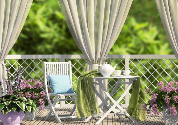 Terasa, balkon, biljke, hlad