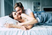 Par, krevet, devojka, žena, muškarac