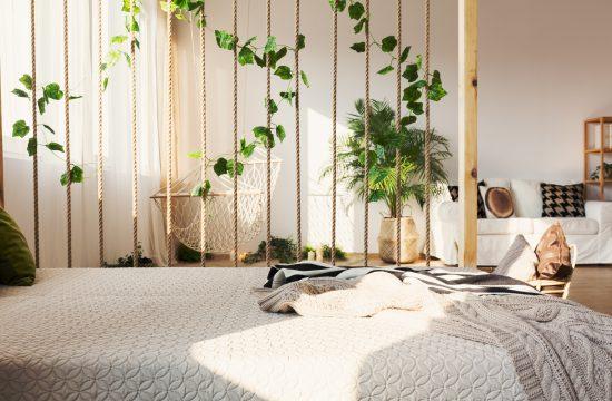 Stan, enterijer, spavaća soba, pregrada