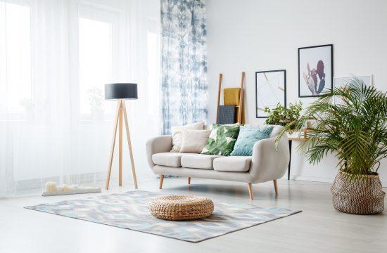Dnevna soba, trosed, kauč, lampa, enterijer, dekor